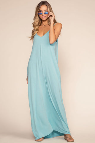 Sunup To Sundown Maxi Dress - Slate Blue