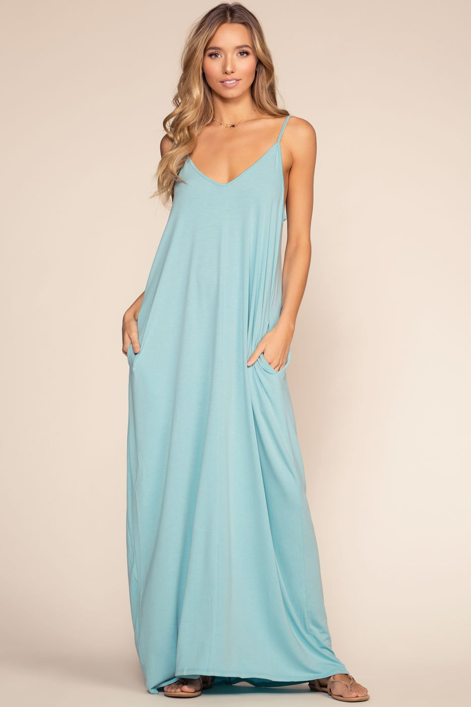 Dresses - Sunup To Sundown Maxi Dress - Blue