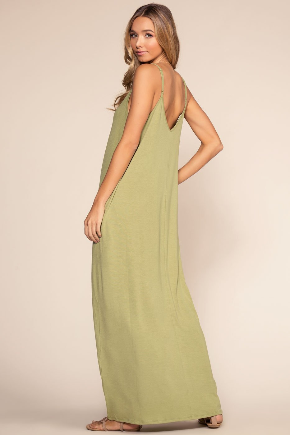 Dresses - Sunup To Sundown Maxi Dress - Sage