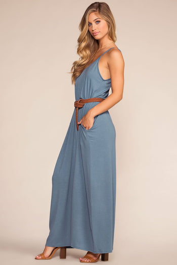 Dresses - Sunup To Sundown Maxi Dress - Slate Blue