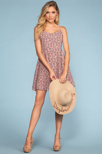 Dresses - Teagan Floral Dress - Mauve