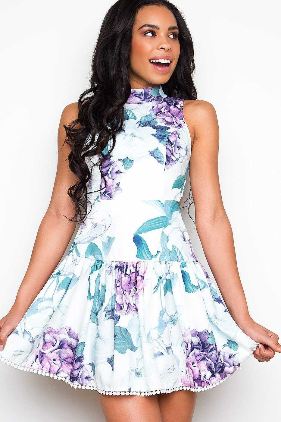 Dresses - Totally In Love Floral Dress