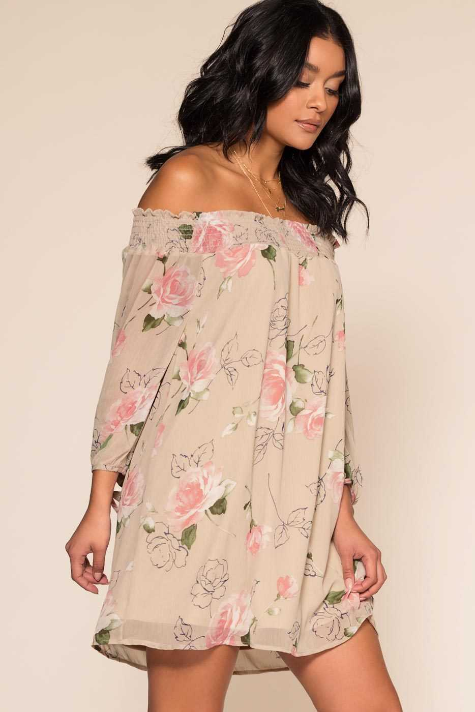 Dresses - True Touch Off The Shoulder Dress
