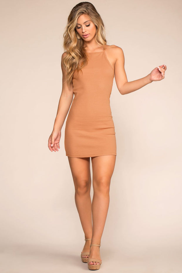 Dresses - Two Please Bodycon Dress - Apricot