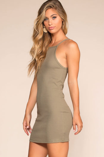 Dresses - Two Please Bodycon Dress - Sage