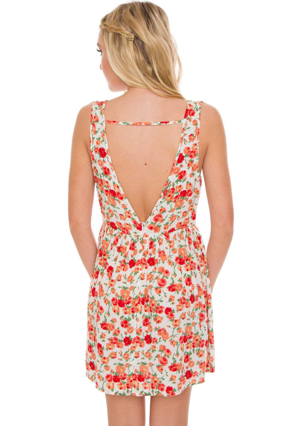 Dresses - Vera Floral Dress - White