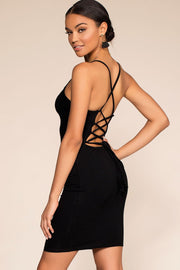 Dresses - Wishful Thinking Lace Up Bodycon Dress - Black