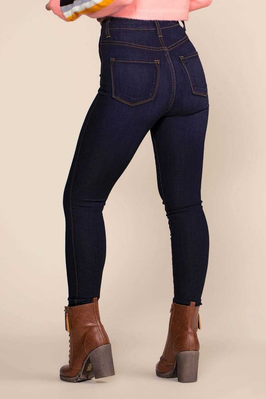 Khloe High Waisted Jeans - Indigo | April Jeans