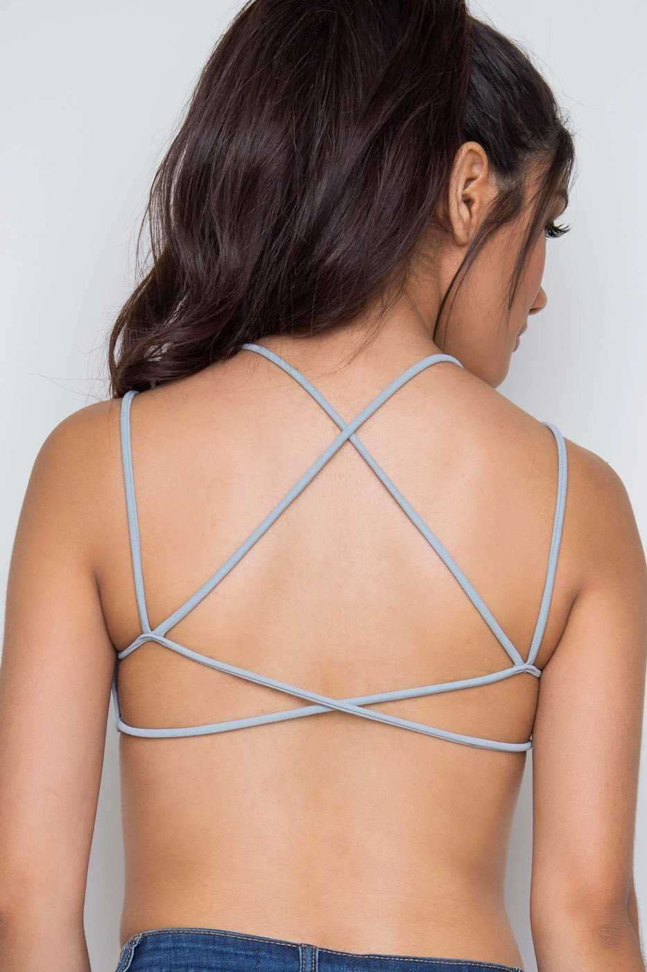 Intimates - Let's Roll Bralette - Gray