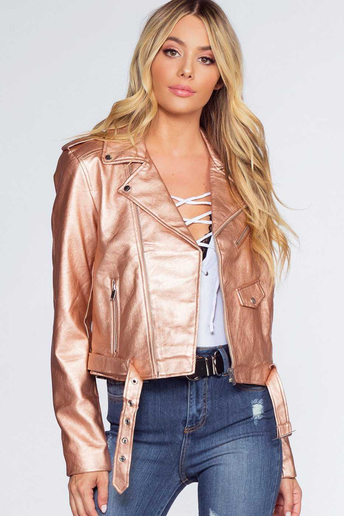 Jackets - Axl Rider Jacket - Rose Gold