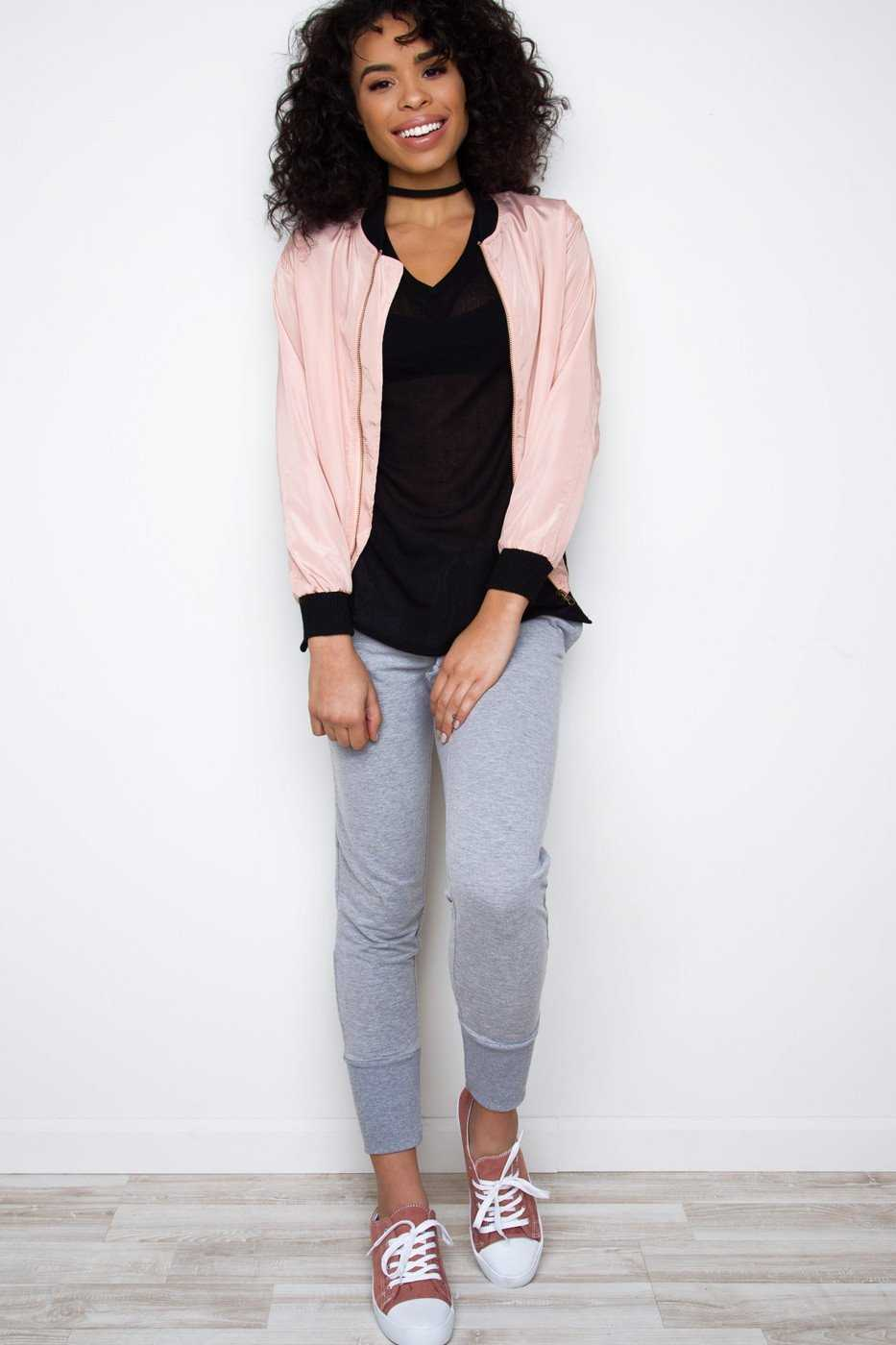 Jackets - Best Friend Bomber Jacket - Blush
