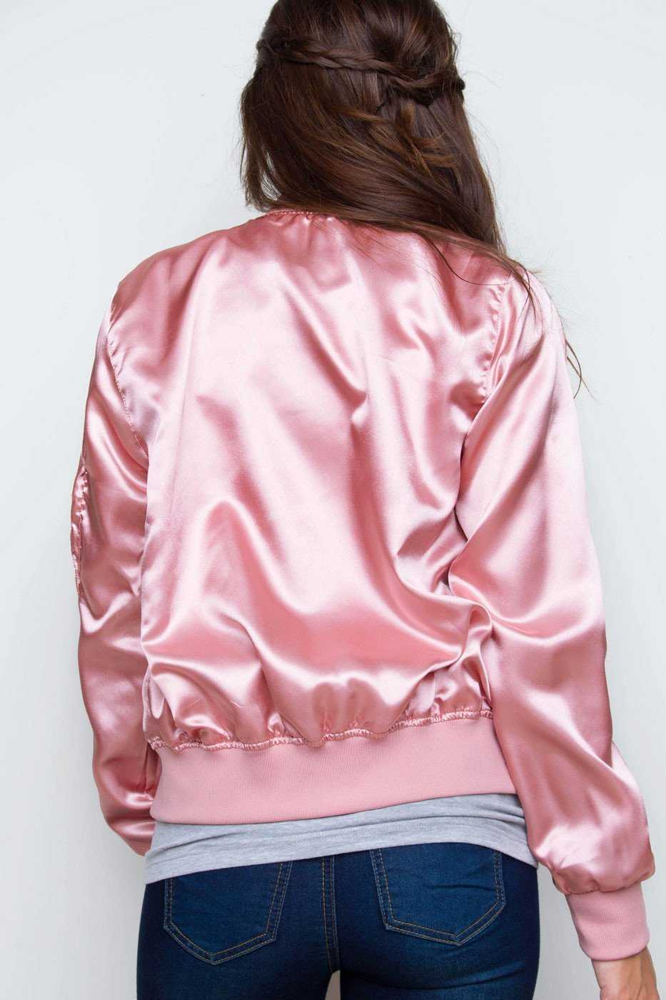 Jackets - Brilliant Blooms Bomber Jacket - Blush