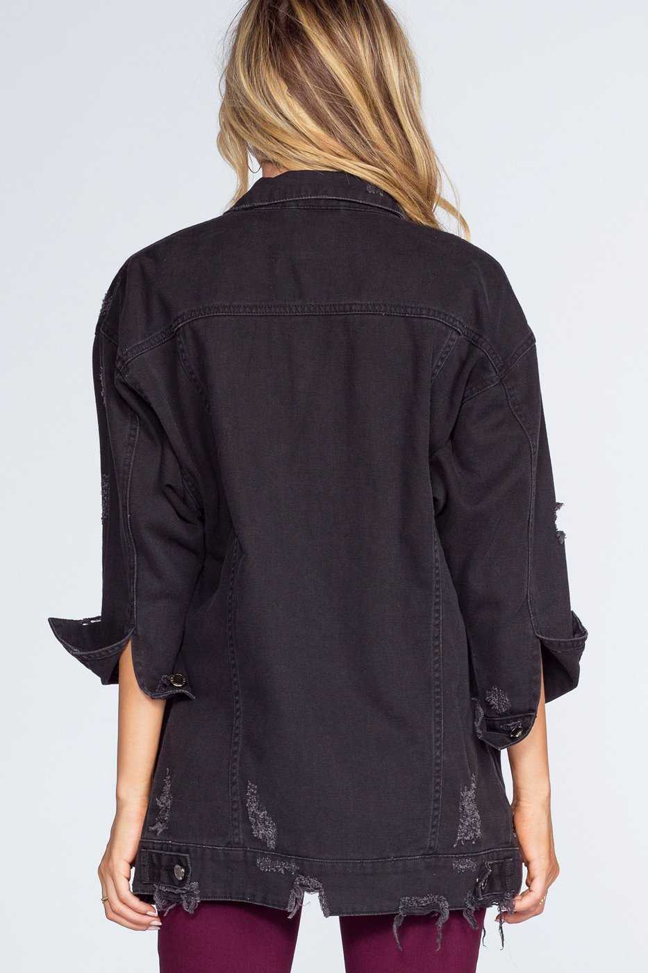Jackets - Dark Night Distressed Denim Jacket