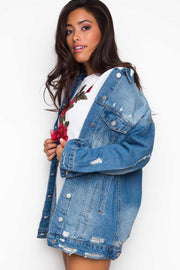 Jackets - Distressed Out Denim Jacket