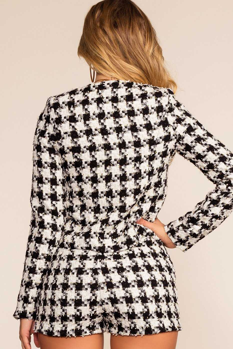 Jackets - Felicity Houndstooth Jacket