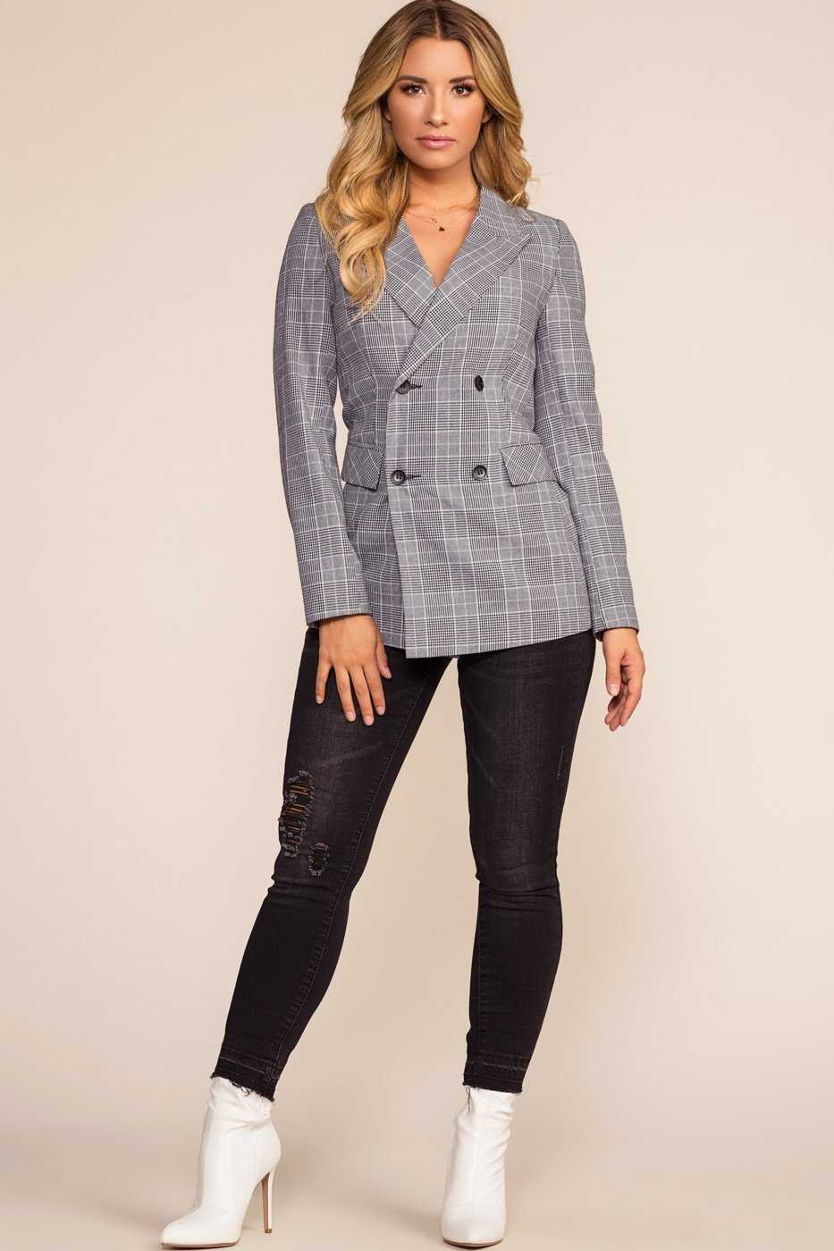 Jackets - Gianna Tartan Plaid Blazer