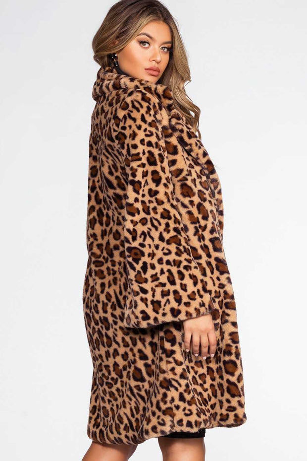 Jackets - Girls Night Meowt Leopard Coat
