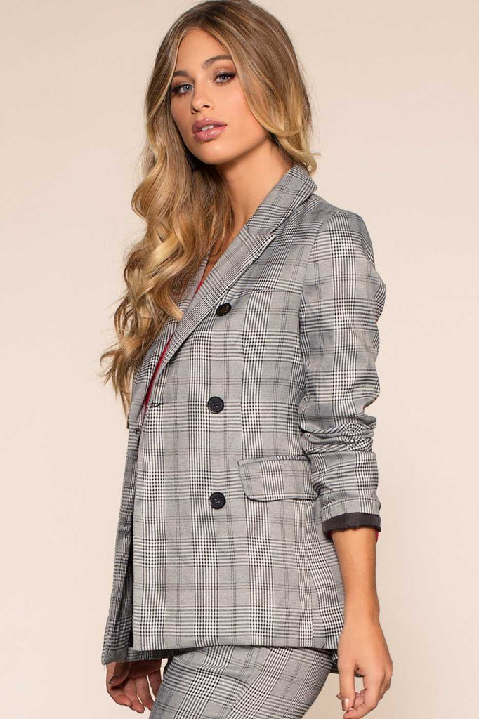 Jackets - Good Girls Go Plaid Blazer