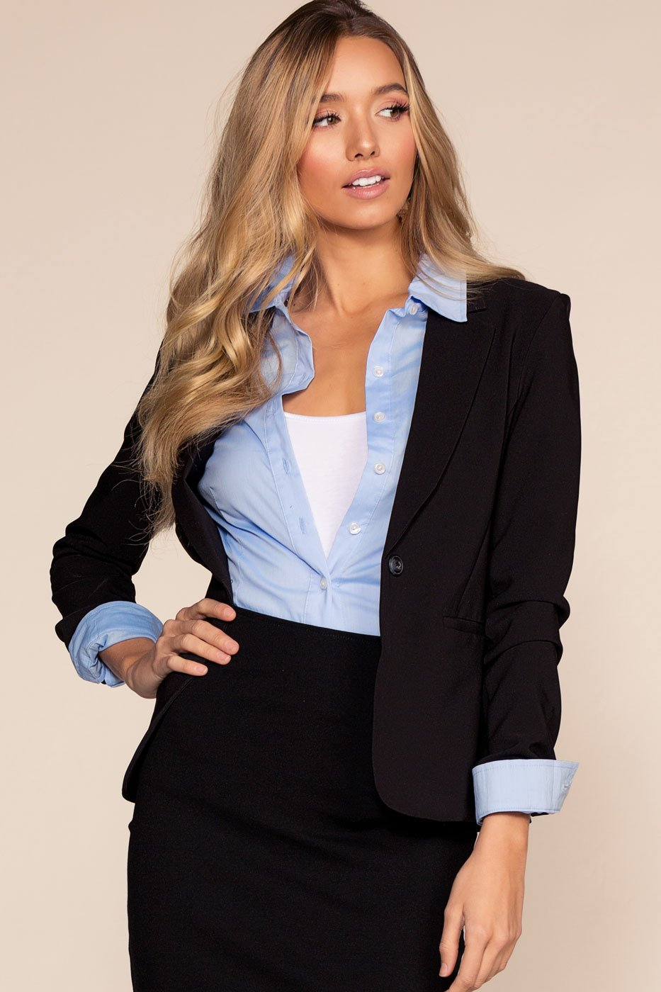 Jackets - Now Or Never Blazer - Black