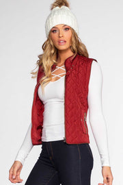 Jackets - Pinetop Quilted Vest - Burgundy