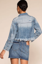 Jackets - Santa Monica Distressed Jean Jacket