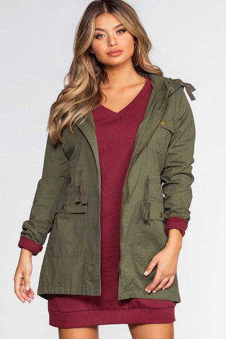 On The Horizon Olive Jacket