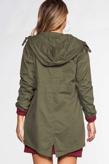 Jackets - Take A Little Ride Cargo Jacket - Olive