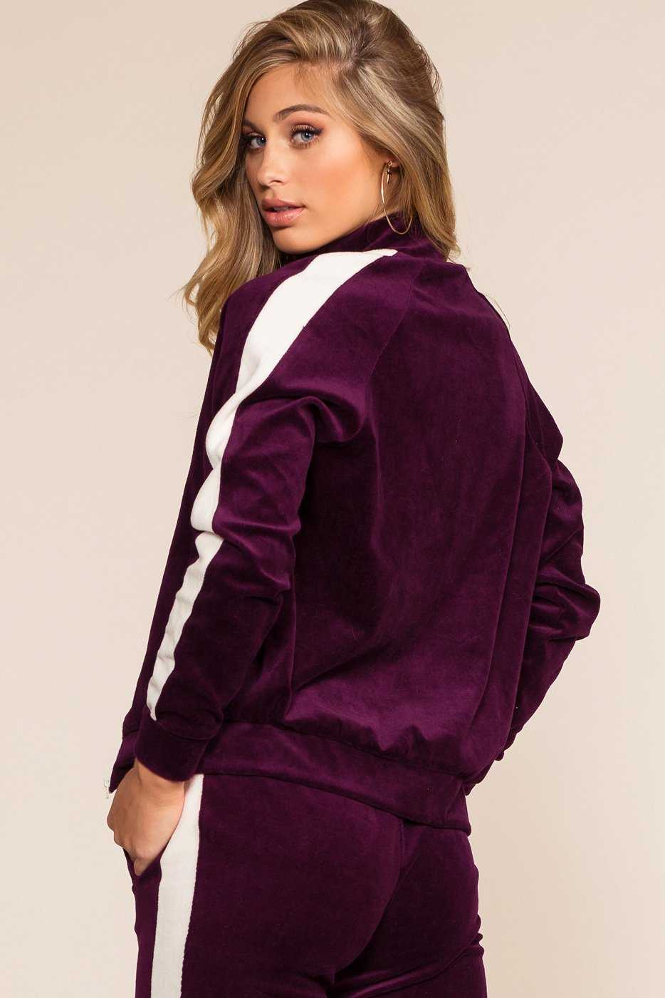 Jackets - Track It Jacket - Plum