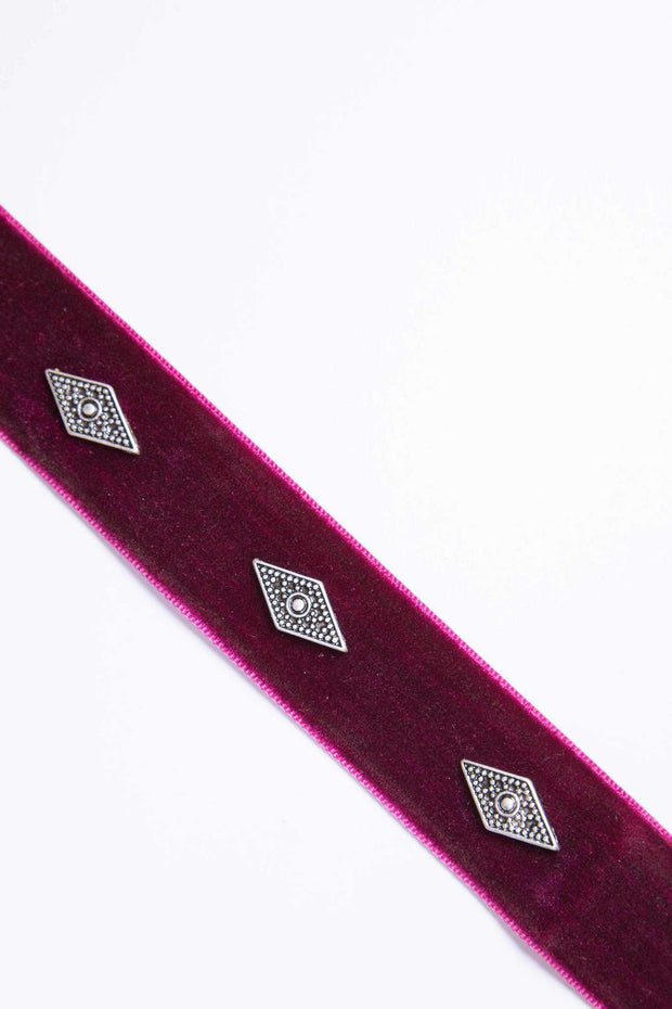 Jewelry - Analeigh Velvet Choker - Burgundy
