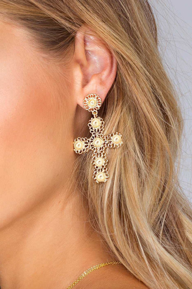 Jewelry - Aveline Cross Earrings