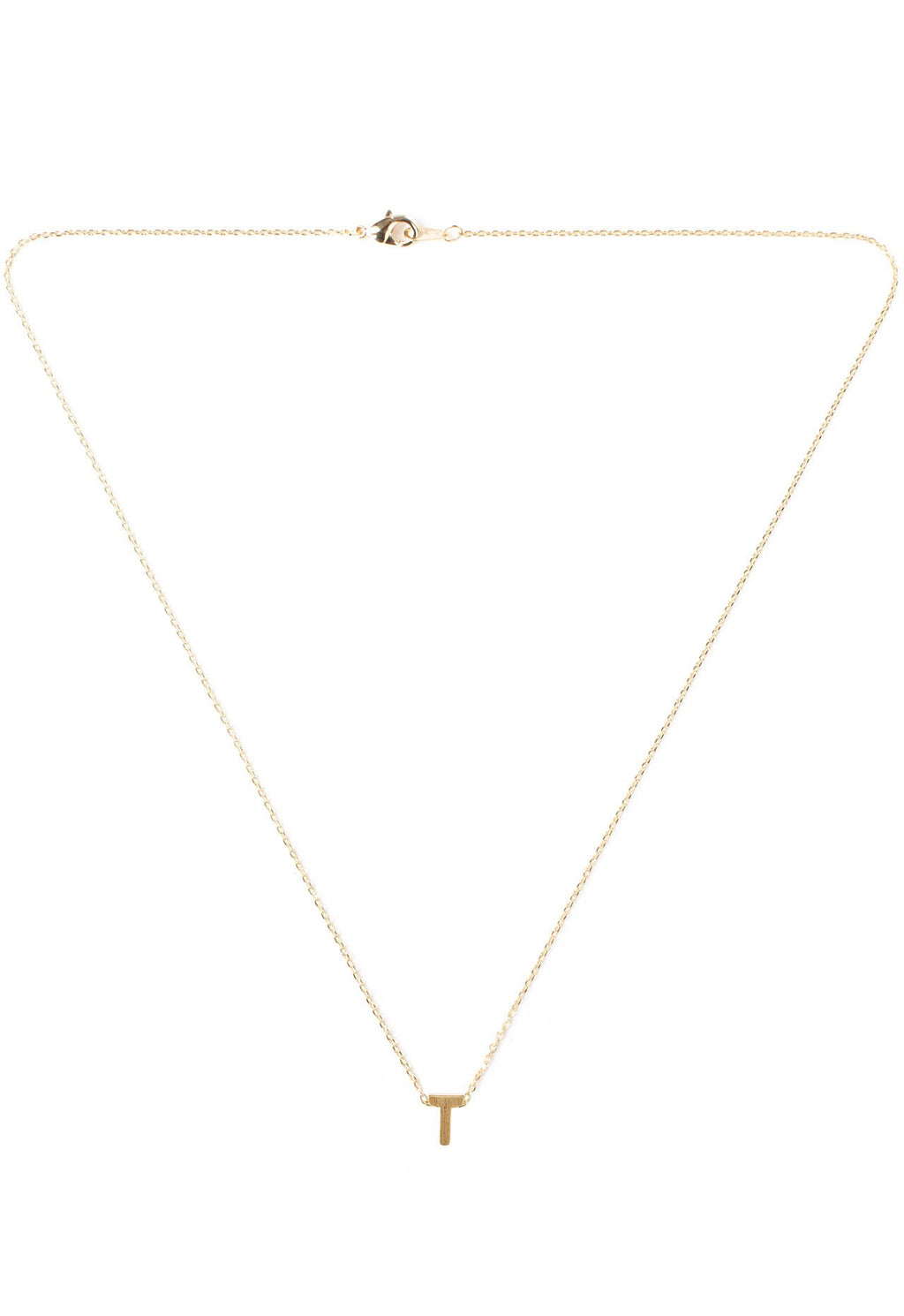Jewelry - Be Yourself Initial Necklace - T