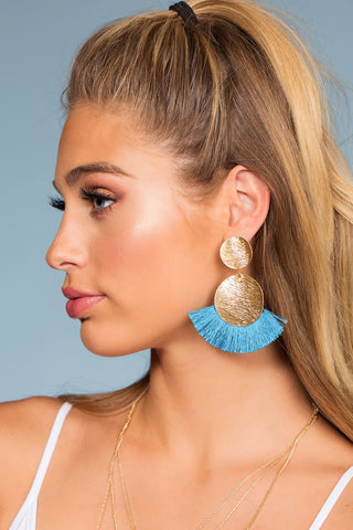 Naomi Mint Tassel Earrings