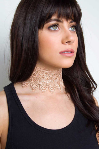 Embrace Metal Choker Set - Gold