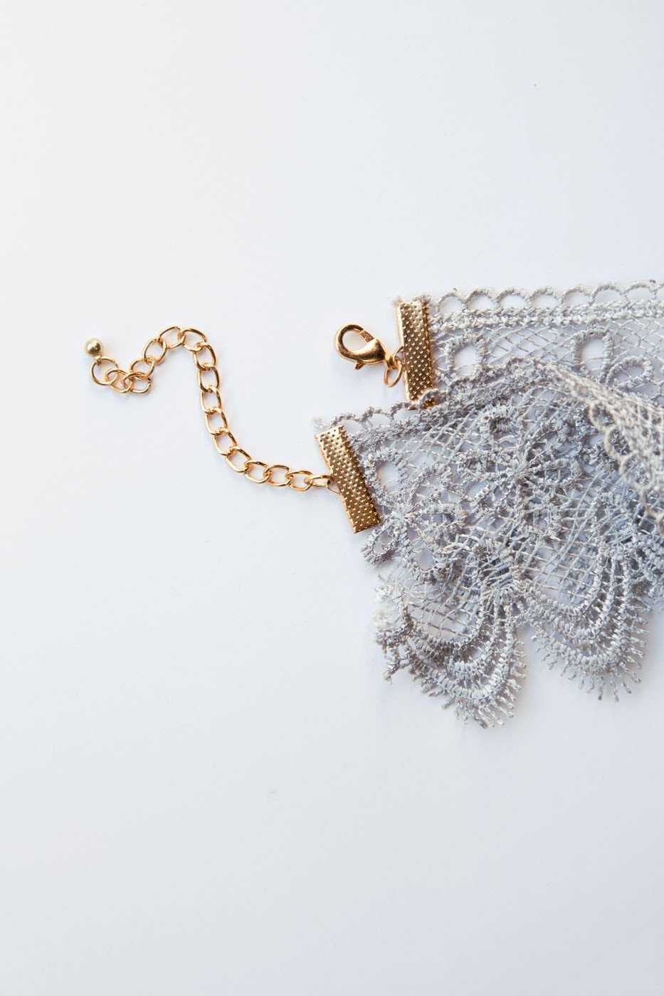 Jewelry - Celia Lace Choker - Gray