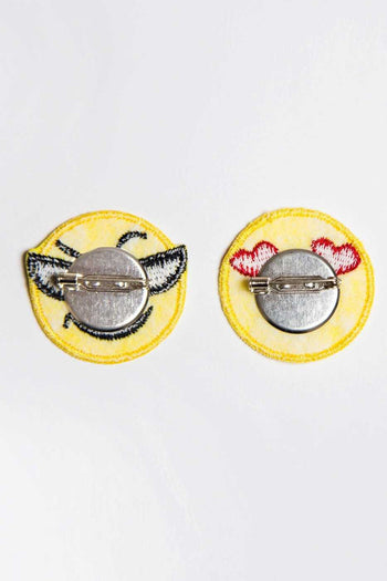 Jewelry - Daring Emoji Patch Pin Set