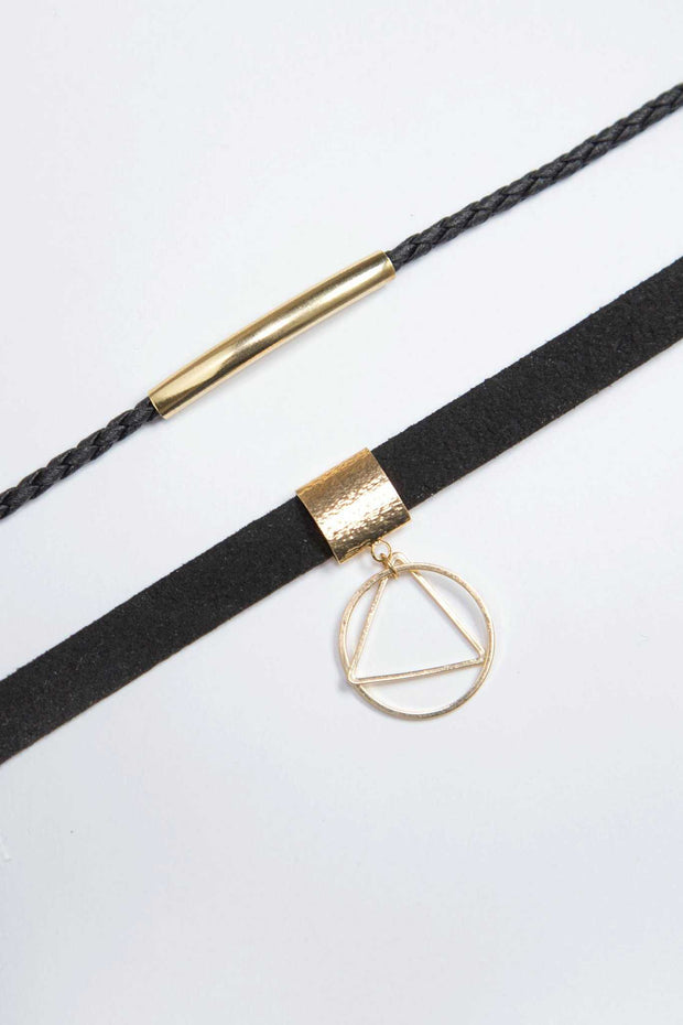 Jewelry - Double Dare Choker Set - Gold