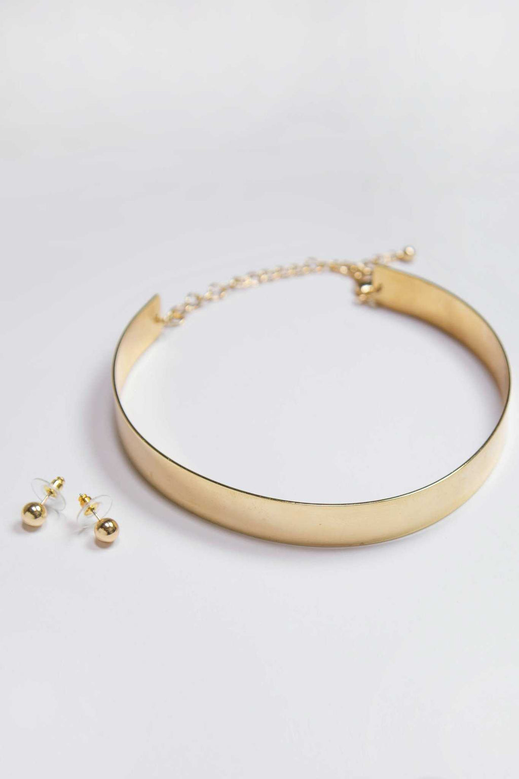 Jewelry - Embrace Metal Choker Set - Gold