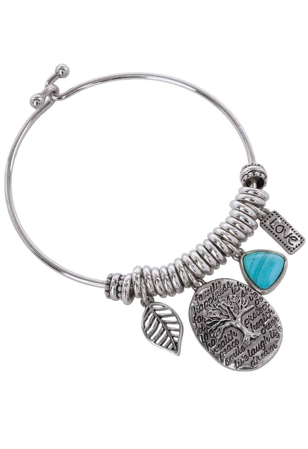 Jewelry - Happiness Charm Bracelet - Silver