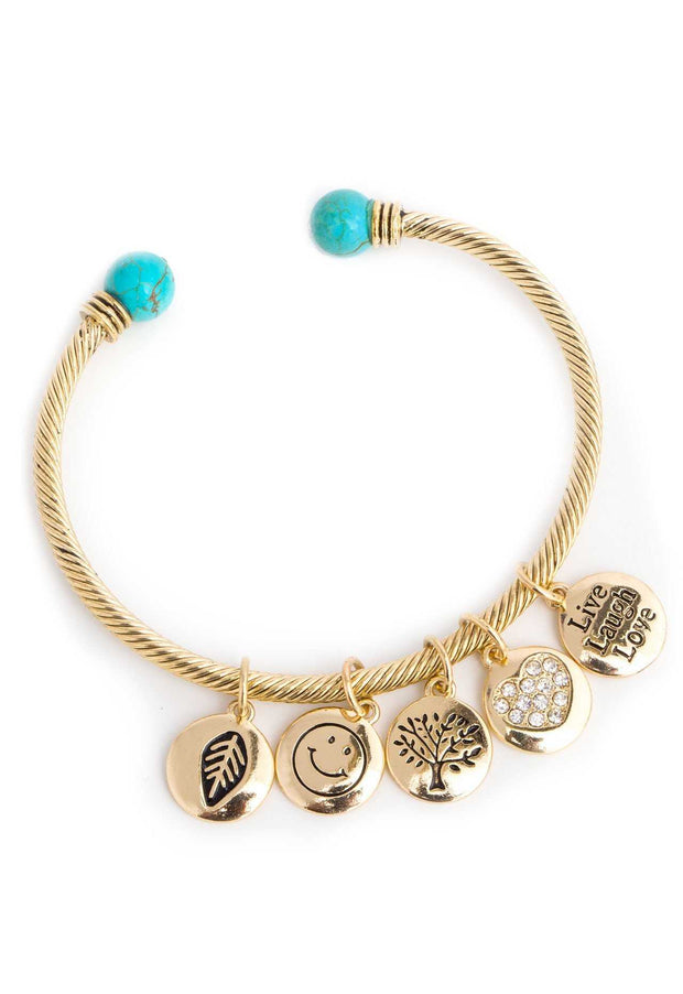 Jewelry - Hello Fall Charm Bracelet - Gold