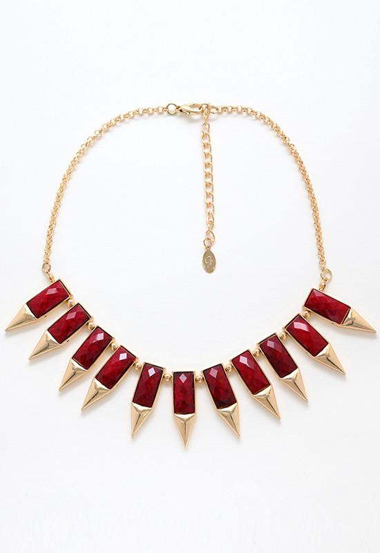 Jewelry - Hidden Gem Necklace - Burgundy