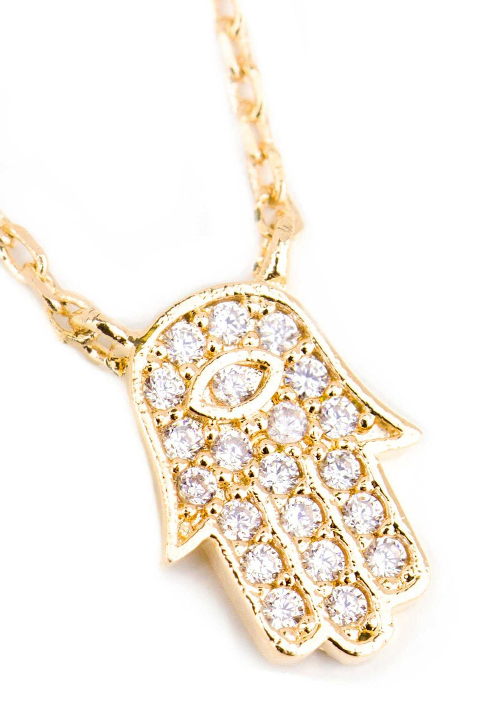 Jewelry - Little Hamsa Necklace - Gold