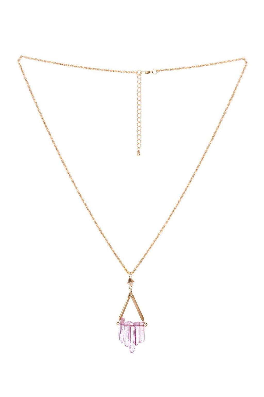 Jewelry - Olea Crystal Necklace - Purple