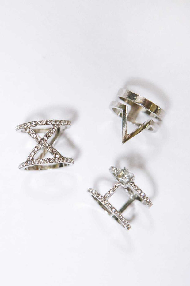 Jewelry - Pamela Ring Set - Silver