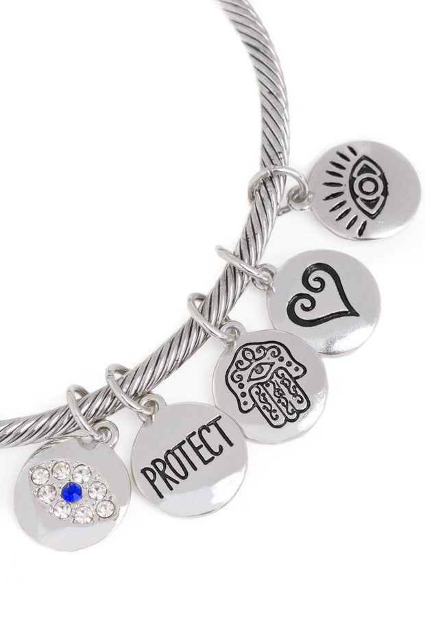 Jewelry - Protect Me Charm Bracelet - Silver