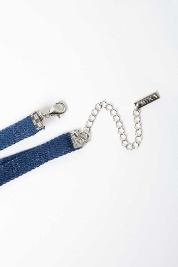 Jewelry - Rendezvous Denim Choker Set - Silver