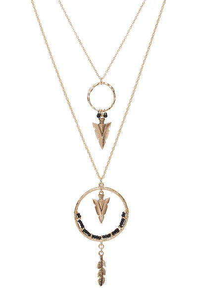 Jewelry - Spinning Arrow Necklace - Black