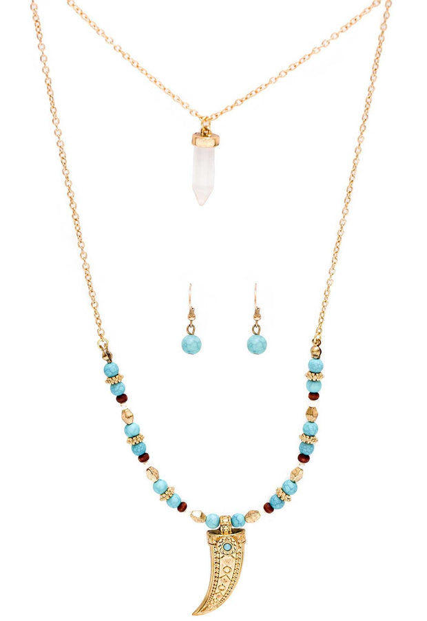 Jewelry - Tribal Crystal Necklace Set
