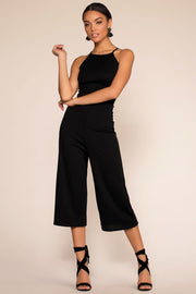 Jumpsuits - Just One Breath Culotte Jumpsuit - Black