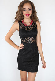 -------- - Lace Charmer Dress - Black