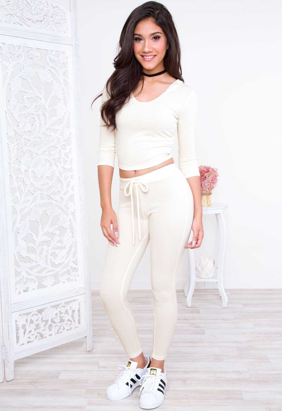 Leggings - Do It Right Leggings - Ivory